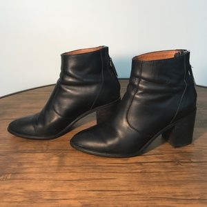 Madewell Ames Black Leather Booties